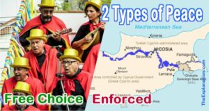 Cyprus and free choice peace of Greeks and Turks in Pyla in the Demarcation Zone.