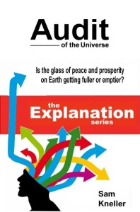 Audit of the Universe. A mock up of the front cover of the second book of The Explanation series.
