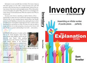 Inventory of the Universe, first book of The Explanation series. The actual front and back covers as published.