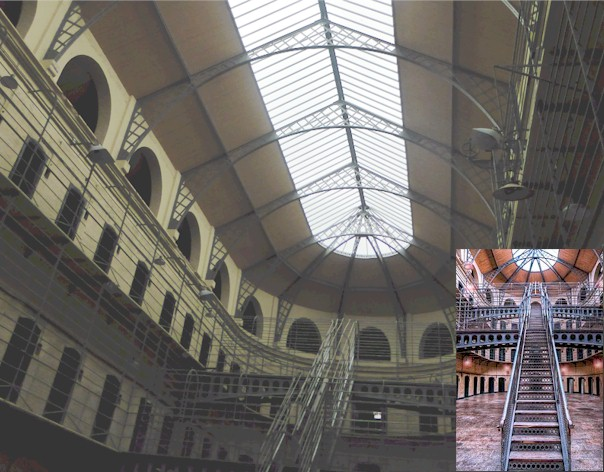 Kilmainham Gaol - Jail a real life century old experiment in prison rehabilitation effectiveness, trying to rehabilitate men and women with various methods used