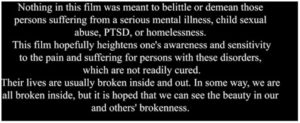 Beauty in the Broken. A moving film that illustrates the need for forgiveness and acceptance