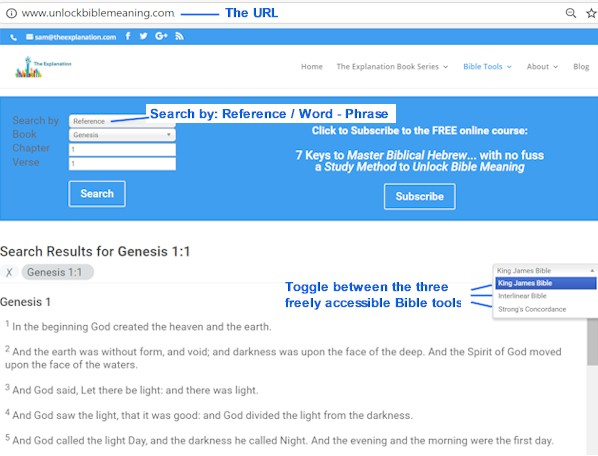 Bible Tools to Unlock Bible Meaning – Using Biblical Hebrew with No Fuss