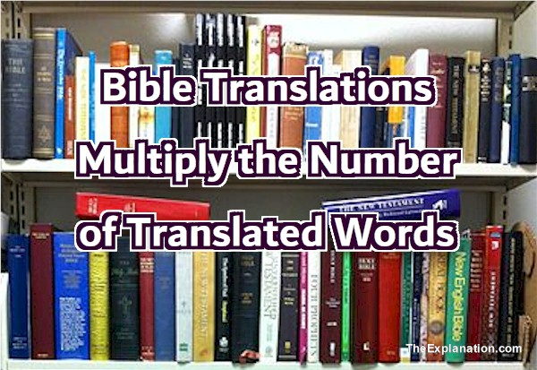 Bible Translations multiply the number of translated words.