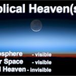 Biblical Heavens. There are three: The Atmosphere is the 1st heaven, outer space is the second heaven, and the Third Heaven--invisible to us--is where God is.