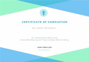 Completion - Unlock Bible Meaning with 7 Keys to Master Biblical Hebrew