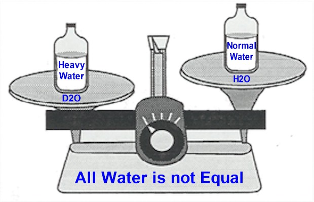 Not all Pure Water is Drinkable, some is Heavy Water