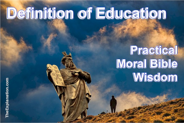 Definition of Education. Teach & Learn to Give & Gain Wisdom