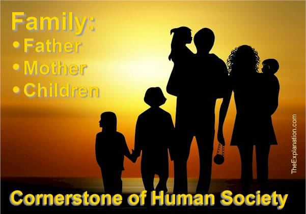 Family composed of father, mother and children represent the cornerstone of human society.