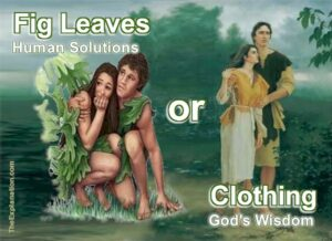 Fig leaves or clothing. Human solutions or God's Bible wisdom. You choose.