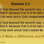 Genesis 2.3 God rested FROM/WITH all his work AND MADE/TO MAKE. Does this additional valid translation make a difference and why?