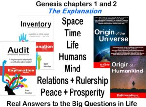 Genesis chapters 1 and 2. An overview of the perfectly assembled puzzle with The Explanation.