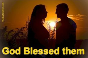 God blessed them. What is the meaning of God blessing the male and female?