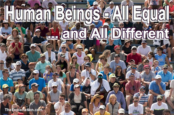 Human Beings – God Created them Equal but Different