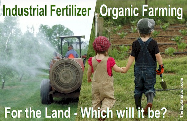 For the Land, what cultivation method should humanity choose: Industrial Fertilizers or Organic Farming?