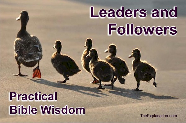 Leaders and Followers. Organization. Practical Bible Wisdom.