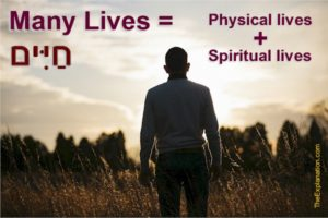 Humans were created with the potential for many lives. They are physical and spiritual lives.