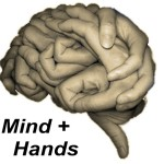 Minds and Hands. The two key characteristics of Mankind related to New Year wishes: Peace and Prosperity