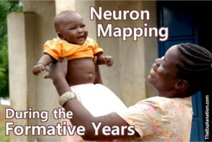 """It's as if each person can have a hand in """"drawing"""" the mapping of neurons during the formative years of a child's life, when the child's brain acquires knowledge and develops neuronal connections."""