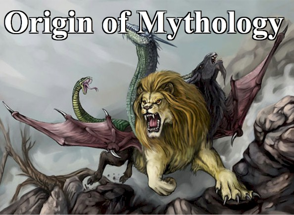 Mythology come from and why does it exist? Pictured is Chimera a ferocious mythologic creature, an amalgam of a lion, a goat and a serpent. Why these three animals?