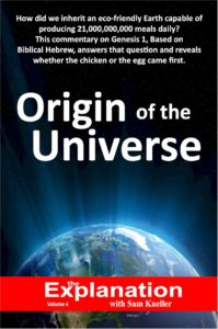 Origin of the Universe cover of the fifth book of The Explanation series.
