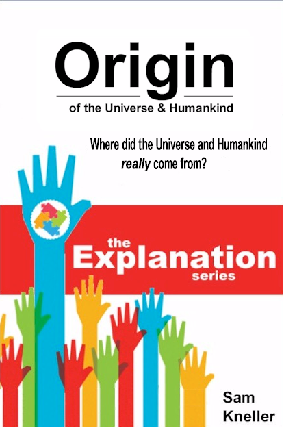 Mock-up cover of Origin of the Universe - Where did the Universe and Humankind really come from?