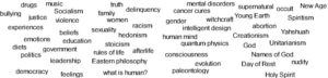 Personalview. Creating a worldview from an issue in which an individual is highly involved.