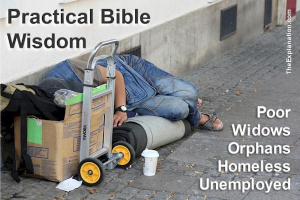 Poor, widows, orphans, homeless, unemployed. Welfare