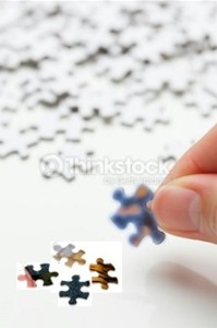 Turning the puzzle pieces right side up