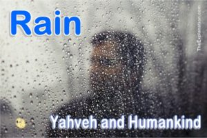 Rain. When and why did Yahveh start pouring it down on Earth?