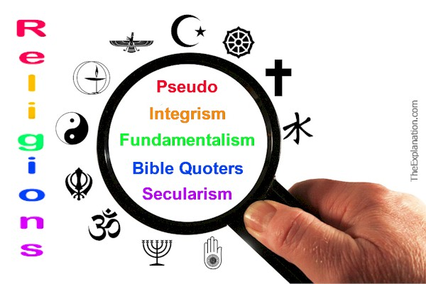 Religions, All Types: Bible Quoters, Pseudo, Secular
