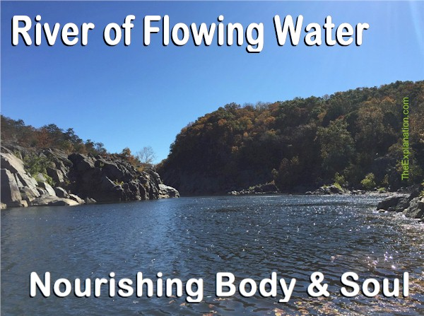 River of Living Water. The Profound Spiritual Meaning