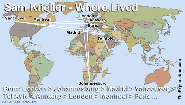My life. Sam Kneller lived in numerous cities, in various countries, on three continents.