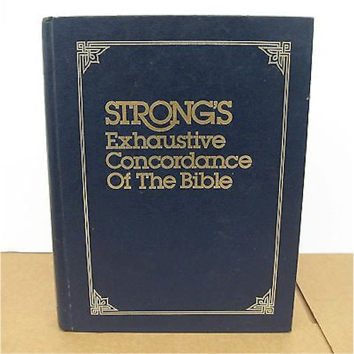 Strong's Concordance of the Bible. A study tool to help you locate English words and their original Hebrew and Greek.