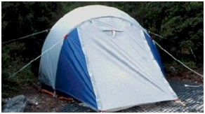 A spread-out tent occupying three dimensions