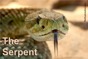 The Serpent. Down through history he is presented at the arch-enemy of God, as a fallen angel due to his vanity. But as the same time a highly intelligent and creative being.