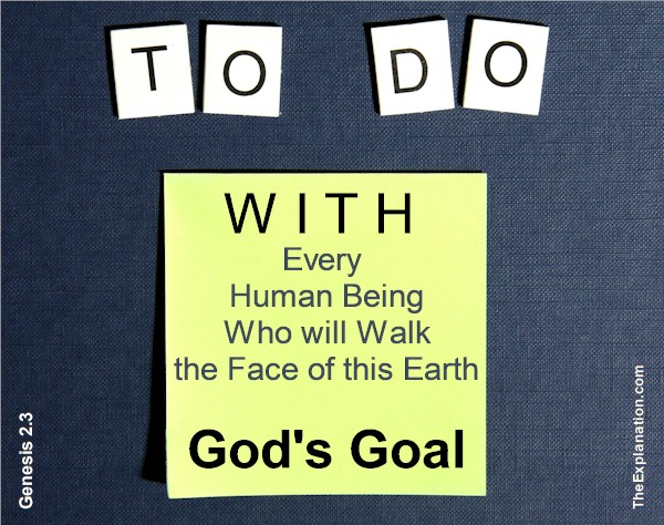 God 'to do with' His Work–to make them on 7th Day, to Take Care of His Creation