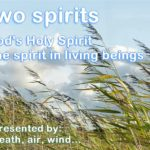 Two spirits. God's Holy Spirit and the spirit in all living beings. Represented by breath, air, wind.