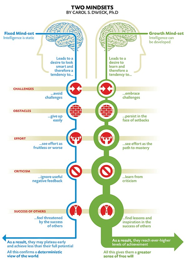 Growth Mindset is a way to progress to mastering the skills of life