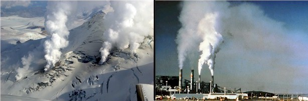 Climate change: Volcanic CO2 Emissiosn versus Fossil Fuel Emmissions