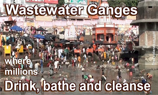 Wastewater, cremations... Ganges, India. Where millions drink, bathe and cleanse.