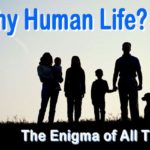 Why Human life? It's an enigma that humankind is really too scared to ponder. We really don't know the answer. Yet this is fundamental knowledge--basic to understanding how we function.