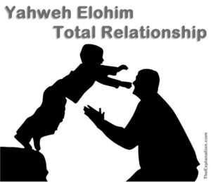Yahweh Elohim is a total Father - Son relationship